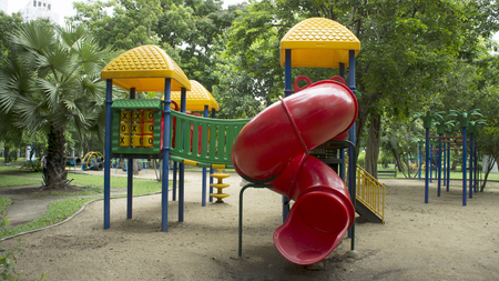 play ground: colourful play ground in the park