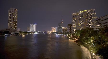 chao praya: BANGKOK-AUGUST 15,2015:  Luxury hotel and condominium located at Chao praya riverfront.