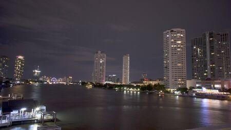 praya: BANGKOK-AUGUST 15,2015:  Luxury hotel and condominium located at Chao praya riverfront.