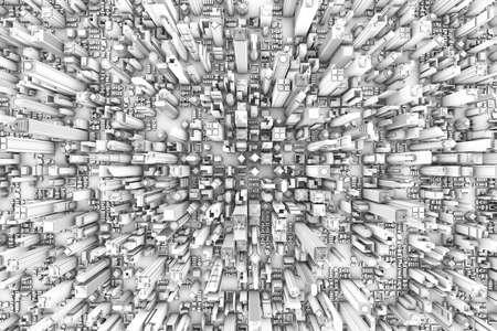 Voir le 3D City a�rienne Banque d'images