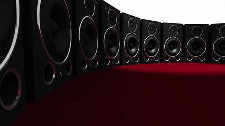 Massive Audio Altavoz pared 3D Foto de archivo - 11159221