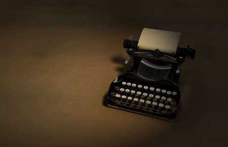 Raytraced HDRI 3D render of an antique typewriter.