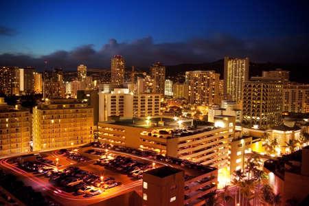 Waikiki Hawaii at Night