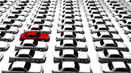 Hunderte von generischen Autos. Standard-Bild - 11159256