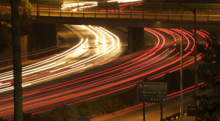 night shot of traffic on the 5 freeway.  Stock Photo - 11159556
