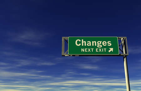 changing form: Super high resolution 3D render of freeway sign, next exit... Changes!