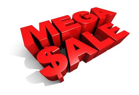 Mega Sale 3D Graphic Text