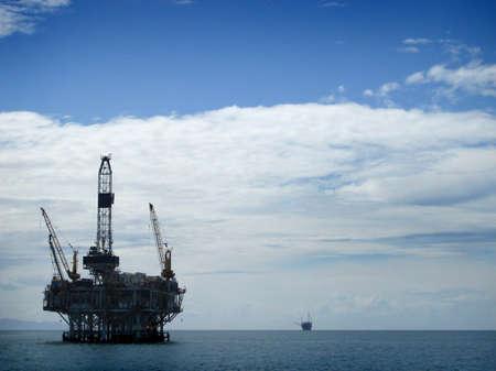 puits de petrole: Offshore Oil Rig plateforme de forage
