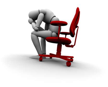 Super hohe Auflösung 3D Mannequin sitzt auf dem stuhl in rot. Standard-Bild - 11578805