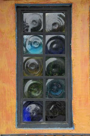 Bottled Glass WIndow Banco de Imagens