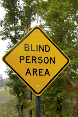 visually: Blind Person Area Stock Photo