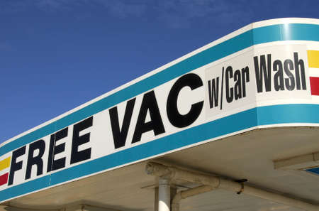 car wash: Free VAC with Car Wash Stock Photo