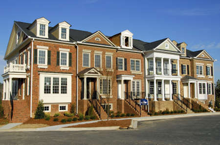 townhome: Luxury Townhome Construction Stock Photo