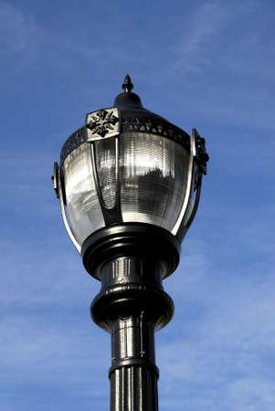 outdoor lighting: Outdoor Lighting Post Stock Photo