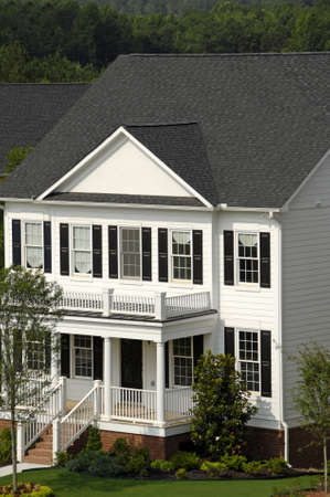 Traditional White 2-Story House Stock Photo - 1480291
