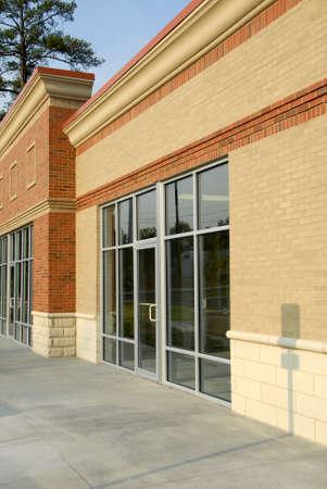 Front Facade of New Commercial Building 版權商用圖片