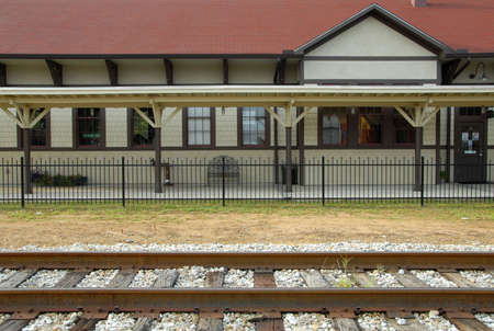 Railroad Depot in a Small Country Town