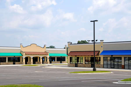Store Fronts in a New Shopping Center