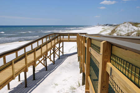 New Handicap Ramp providing access to Beach