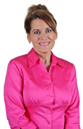 Attractive Woman wearing Pink Blouse Banco de Imagens