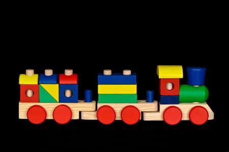 Toy Wooden Bock Train