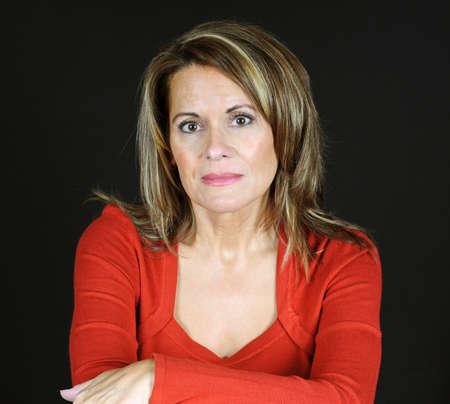 Portret van aantrekkelijke vrouw Stockfoto