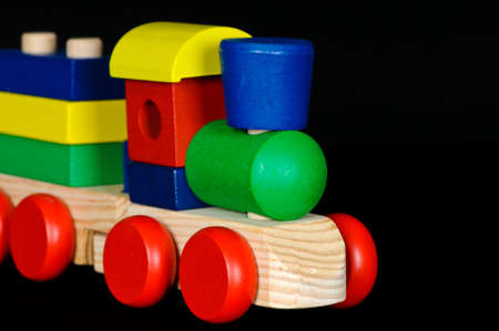 Colorful Wood Block Train