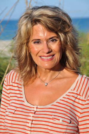 Outdoor Portrait of an Attractive Middle Age Woman