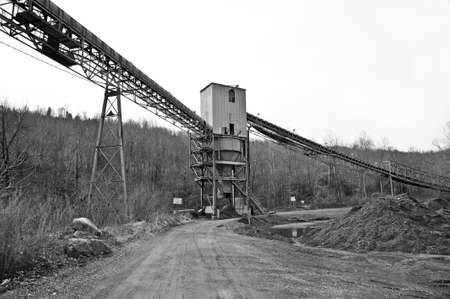 A Closed Down Coal Tipple with Coal Conveyor Line