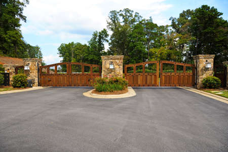 Stately Entrance to New Gated Community Stock Photo - 31907510