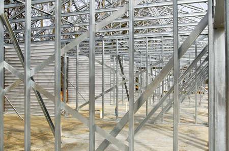 新しい商業ビルの鉄骨 写真素材