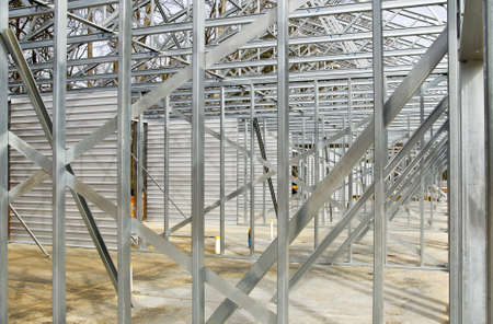 Steel Framing of a New Commercial Building