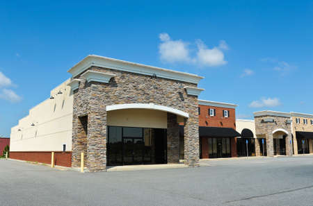 New Commercial Building with Retail and Office Space available for sale or lease Stock Photo