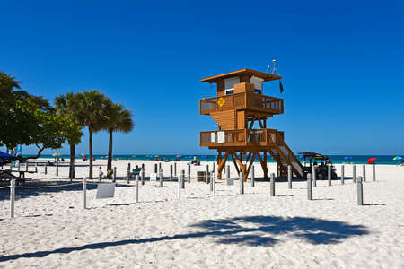 Lifeguard Observation Tower on Bradenton Beach, Florida