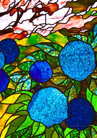 A Close up Image of Colorful Stained Glass Details