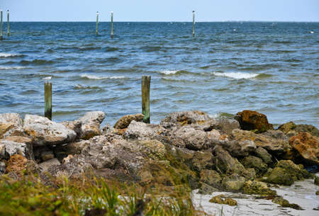 View of  Tampa Bay from the Beach on Anna Maria Island, Florida