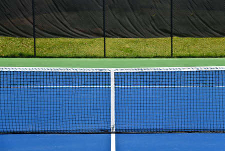Empty Tennis Courts closed due to Social Distancing During Covid-19 Pandemic in the United States of America