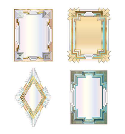 Art Deco style borders Stock Vector - 8559522