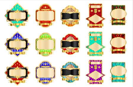 Decorative gold labels Stock Vector - 8559528