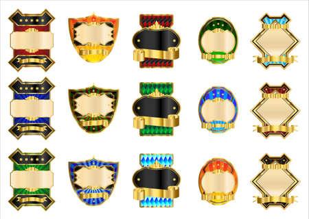 Decorative gold labels Stock Vector - 8559526