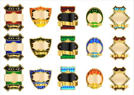 Decorative gold labels