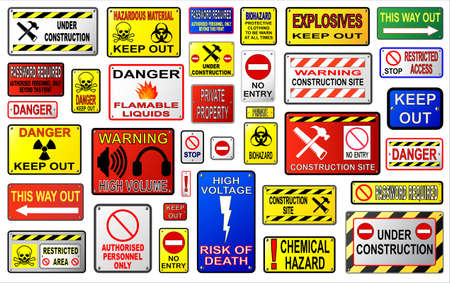 dangerous construction: Warning signs