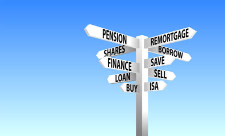 pension fund: Finace Sign Post