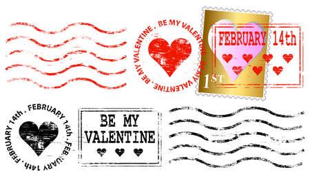 Valentine Letter Frank Stock Vector - 8602183