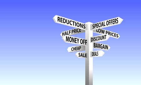 road signs: Sale Sign Post