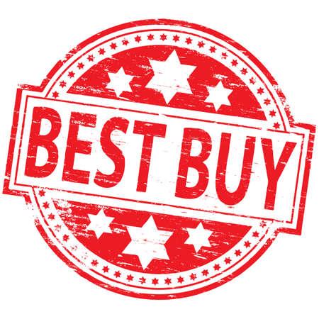 BEST BUY Rubber Stamp Stock Vector - 8774125