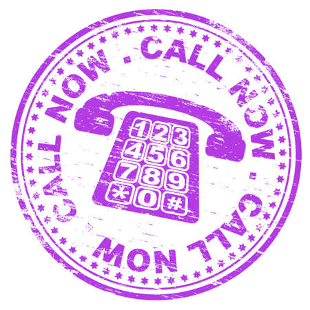 rubber ring: CALL NOW Rubber Stamp Illustration