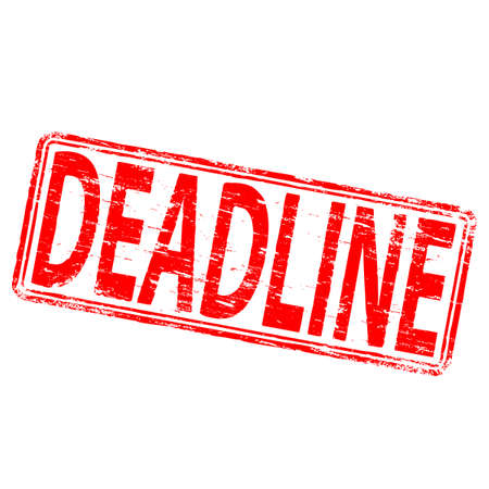 deadline: DEADLINE Rubber Stamp