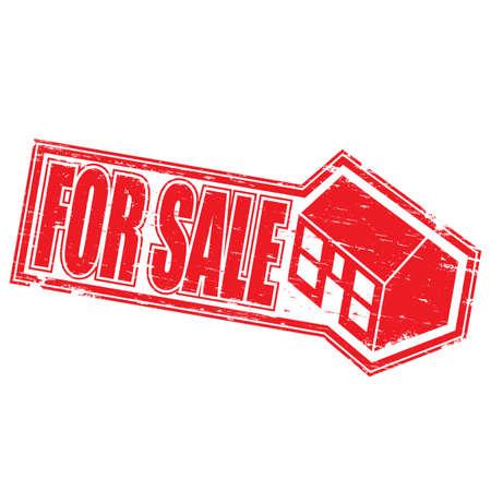 HOUSE FOR SALE Rubber Stamp Stock Vector - 8774124