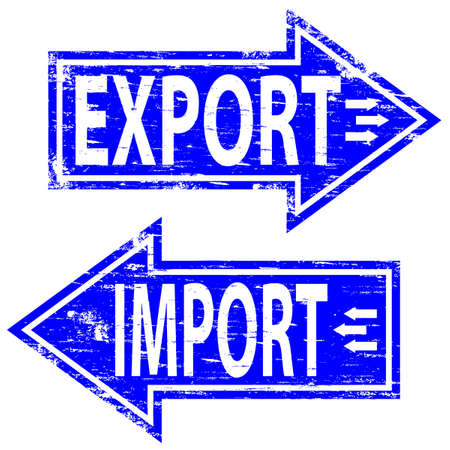 import: IMPORT EXPORT Rubber Stamp